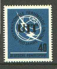 Germany - West 1965 International Telecommunications Union unmounted mint SG 1397*