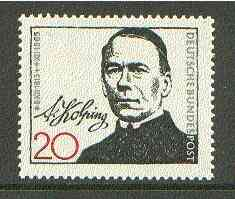 Germany - West 1965 Death Centenary of Adolf Kolping (miners' padre) unmounted mint SG 1398