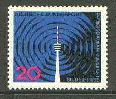 Germany - West 1965 Radio Exhibition, Stuttgart unmounted mint SG 1402*