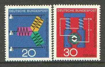 Germany - West 1966 Scientific Anniversaries (2nd series) set of 2 unmounted mint SG 1426-27*