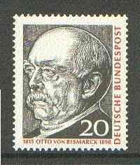 Germany - West 1965 Birth Anniversary of Otto von Bismarck (statesman) unmounted mint SG 1388*