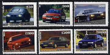 Buriatia Republic 1996 Cars set of 6 values unmounted mint