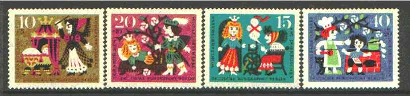Germany - West Berlin 1964 Humanitarian Relief Funds (Sleeping Beauty) set of 4 unmounted mint SG B231-34*