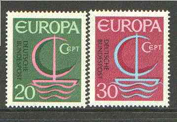 Germany - West 1966 Europa set of 2 unmounted mint SG 1424-25*