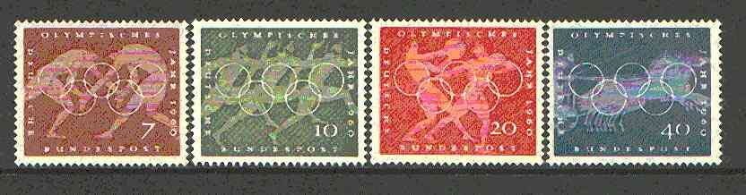 Germany - West 1960 Olympic Year set of 4 unmounted mint SG 1246-49*