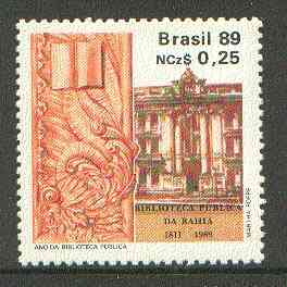 Brazil 1989 Public Library unmounted mint SG 2344*