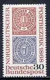 Germany - West 1968 North German Stamp Centenary unmounted mint SG 1471*
