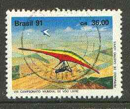 Brazil 1991 Free Flight Championships (Hang Gliding) very fine used SG 2470*