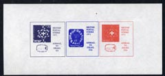 Cinderella - Israel 1971 imperf m/sheet (with reduced size 4s6d blue, 22p red & 22p blue) produced for use during Great Britain Postal strike, unmounted mint