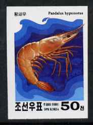 North Korea 2000 Shellfish 50 ch imperf proof on ungummed glossy paper (pairs or blocks pro rata)