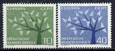 Germany - West 1962 Europa set of 2 unmounted mint SG 1297-98*