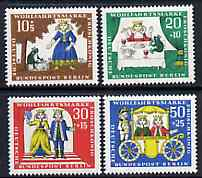 Germany - West Berlin 1966 Humanitarian Relief Funds (The Frog Prince) set of 4 unmounted mint SG B289-92*