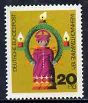 Germany - West 1971 Humanitarian Relief - Christmas (Angel & Candles) unmounted mint SG 1611*