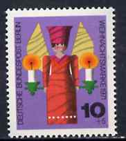 Germany - West Berlin 1971 Humanitarian Relief - Christmas (Angel & Candles) unmounted mint SG B411*