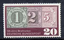 Germany - West 1965 125th Anniversary of First Postage Stamps unmounted mint SG 1403*