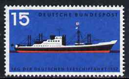 Germany - West 1957 Merchant Shipping Day unmounted mint SG 1183