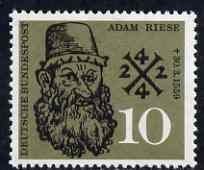 Germany - West 1959 Death Anniversary of Adam Riese (Mathematician) unmounted mint SG 1225*