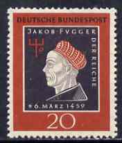 Germany - West 1959  500th Birth Anniversary of Jakob  Fugger (Merchant Prince) unmounted mint SG 1224