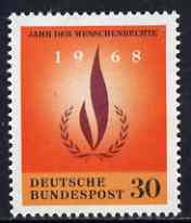Germany - West 1968 Human Rights Year unmounted mint SG 1477*, stamps on human rights
