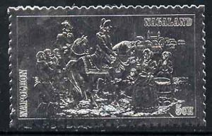 Nagaland 19?? Napoleon on Horseback 5ch value embossed in silver (perf) unmounted mint