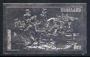Nagaland 19?? Napoleon on Horseback 5ch value embossed in silver (imperf) unmounted mint