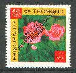 Thomond 1965 Roses 1/2p (Diamond shaped) with 'Sir Winston Churchill - In Memorium' overprint in black with opt inverted* unmounted mint