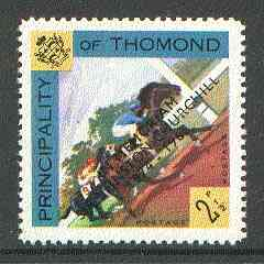 Thomond 1965 Horse Racing 2.5d (Diamond-shaped) with 'Sir Winston Churchill - In Memorium' overprint in black unmounted mint*