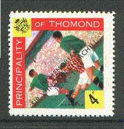 Thomond 1965 Football 4d (Diamond shaped) with 'Sir Winston Churchill - In Memorium' overprint in black unmounted mint*