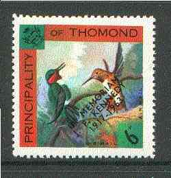 Thomond 1963 Humming Birds 6d (Diamond-shaped) with 'In Memorium - J F Kennedy' overprint unmounted mint*