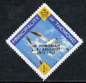 Thomond 1963 Sea Gulls 1s (Diamond shaped) with 'In Memorium - J F Kennedy' overprint unmounted mint*