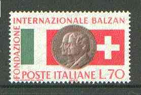 Italy 1962 International Balzan Foundation unmounted mint SG 1083*