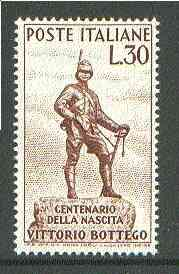 Italy 1960 Birth Centenary of Bottego (explorer) unmounted mint SG 1029*