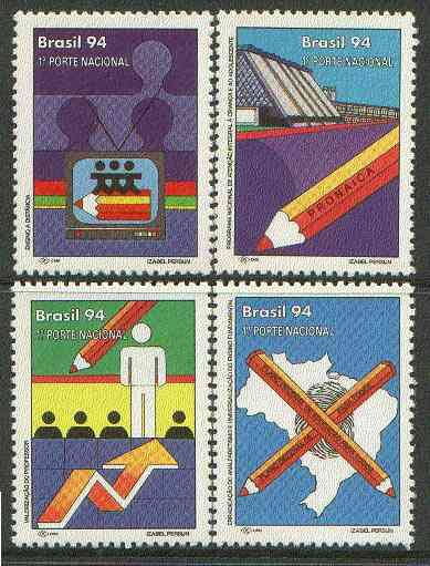 Brazil 1994 Eucation Plan undenominated set of 4 unmounted mint, SG 2644-47*
