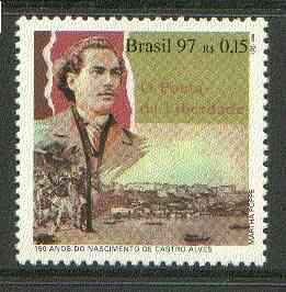 Brazil 1997 Birth Anniversary of Antonio de Castro Alves (poet) unmounted mint SG 2791