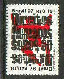 Brazil 1997 Human Rights unmounted mint SG 2815*