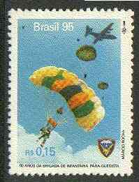 Brazil 1995 Parachute Infantry Brigade 15c unmounted mint SG 2717*