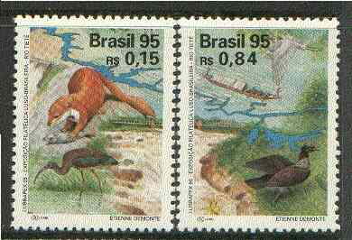 Brazil 1995 Lubrapex '95 Stamp Exhibition (Fauna) set of 2 unmounted mint SG 2722-23*