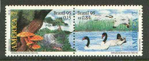 Brazil 1995 America Environmental Protection se-tenant pair unmounted mint SG 2727-28