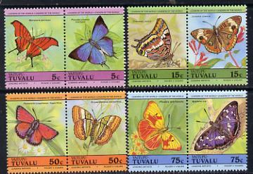 Tuvalu - Vaitupu 1985 Butterflies (Leaders of the World) set of 8 unmounted mint