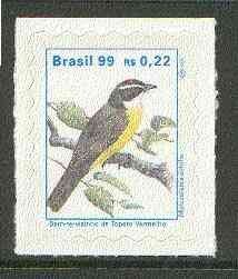Brazil 1997 Birds - Flycatcher 22c self-adhesive unmounted mint, SG 2843*