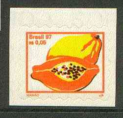 Brazil 1997 Fruits - Mangoes 5c self-adhesive unmounted mint, SG 2820*