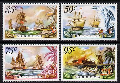 Barbuda 1975 Sea Battles set of 4 unmounted mint, SG 223-6