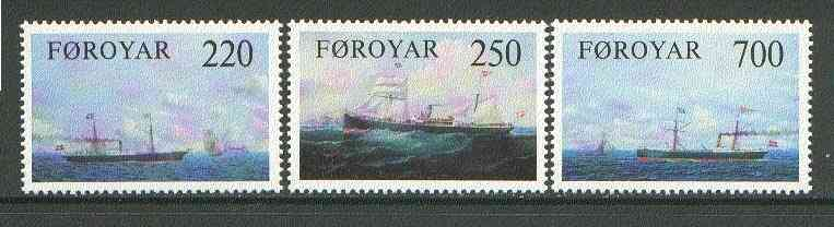 Faroe Islands 1983 Old Cargo Liners set of 3 unmounted mint SG 78-80