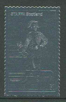 Staffa 19?? Napoleon standing \A31 value embossed in silver (perf) unmounted mint