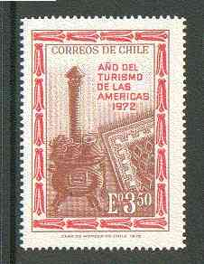 Chile 1972 Stove & Rug 3E50 from Tourism Year set unmounted mint SG 704*