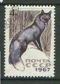 Russia 1967 Silver Fox 4k from Fur Bearing Animals set fine used, SG 3453*