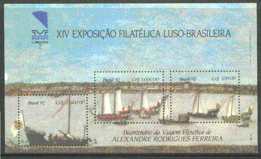 Brazil 1992 Lubrapex '92 Stamp Exhibition (Ships) m/sheet unmounted mint SG MS 2531