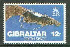 Gibraltar 1978 Gibraltar from Space 12p unmounted mint SG 398*