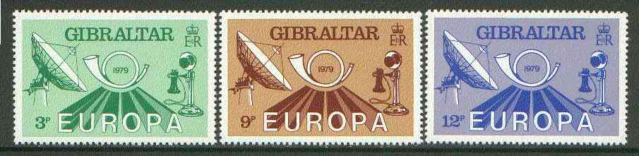 Gibraltar 1979 Europa Communications set of 3 unmounted mint SG 420-22*