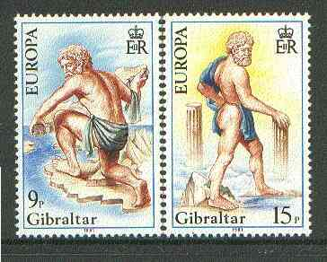 Gibraltar 1981 Europa Folklore (Hercules) set of 2 unmounted mint SG 444-45*